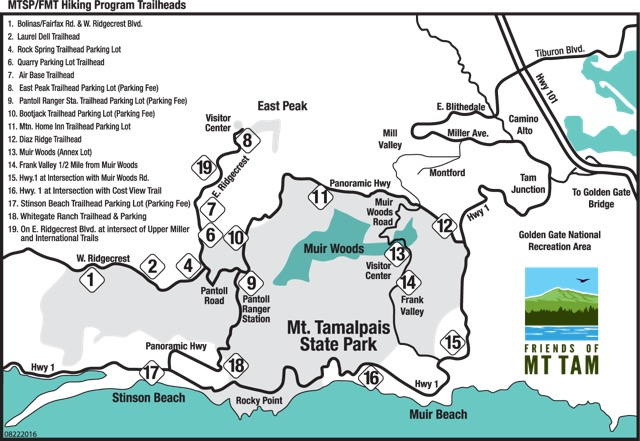 Mt Tam Maps And Directions